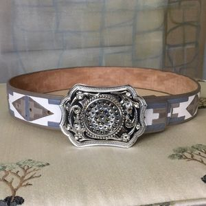 Aztec & Glam Belt & Crystal Encrusted Buckle